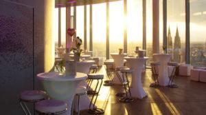 Ihre Location in Köln! Zwei Etagen und ein atemberaubender Blick über Köln machen Ihre Events zu einem unvergesslichen Ereignis im KölnSKY.