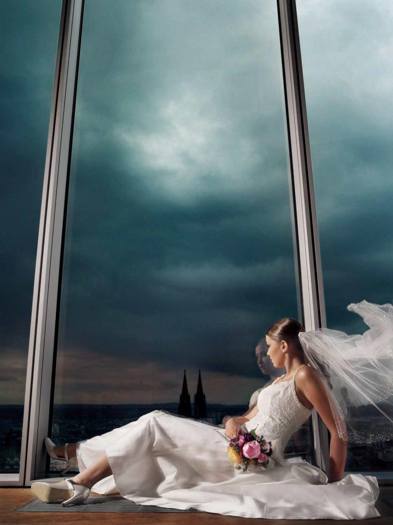 Dieses Brautbild ist auch ohne Sonne einfach nur Spektakulär!